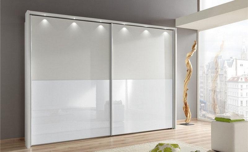 Шкаф купе стекло белый глянец