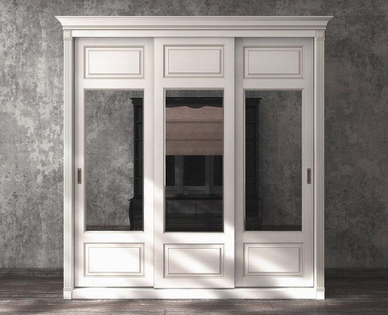 Шкафы купе классика с зеркалами