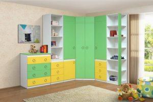 Желто зеленая детская мебель