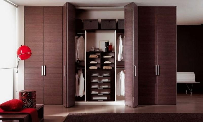 корпусный шкаф гармошки со складными дверями