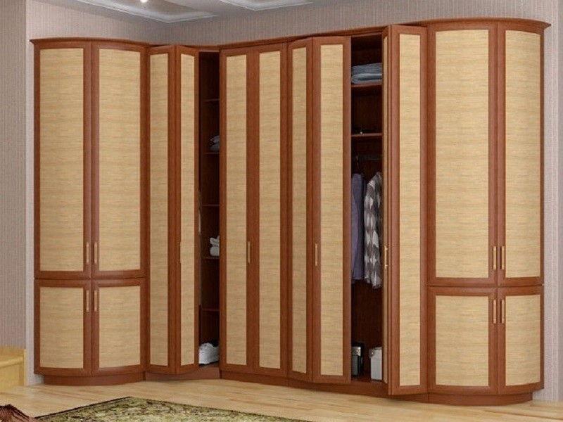 шкаф гармошки со складными дверями из бамбука